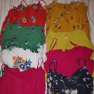 Old Navy spaghetti strap dresses.